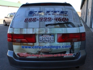 Vehicle Wrap for Elite Shutters & Shadings