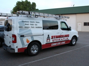 Vehicle Advertising for Stanislaus Stove & Flu