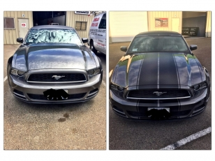 Color Change Car Wrap before and after