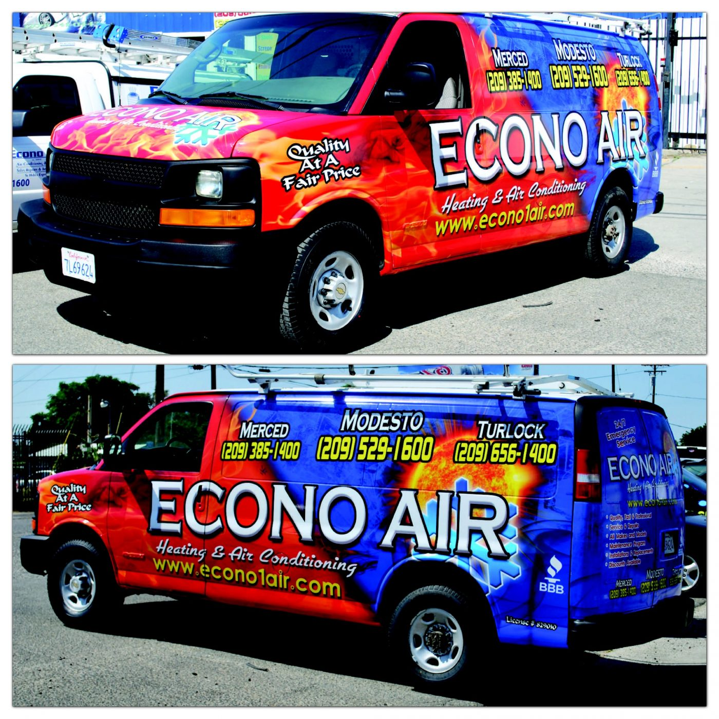 Full Van Commercial Vehicle Wrap