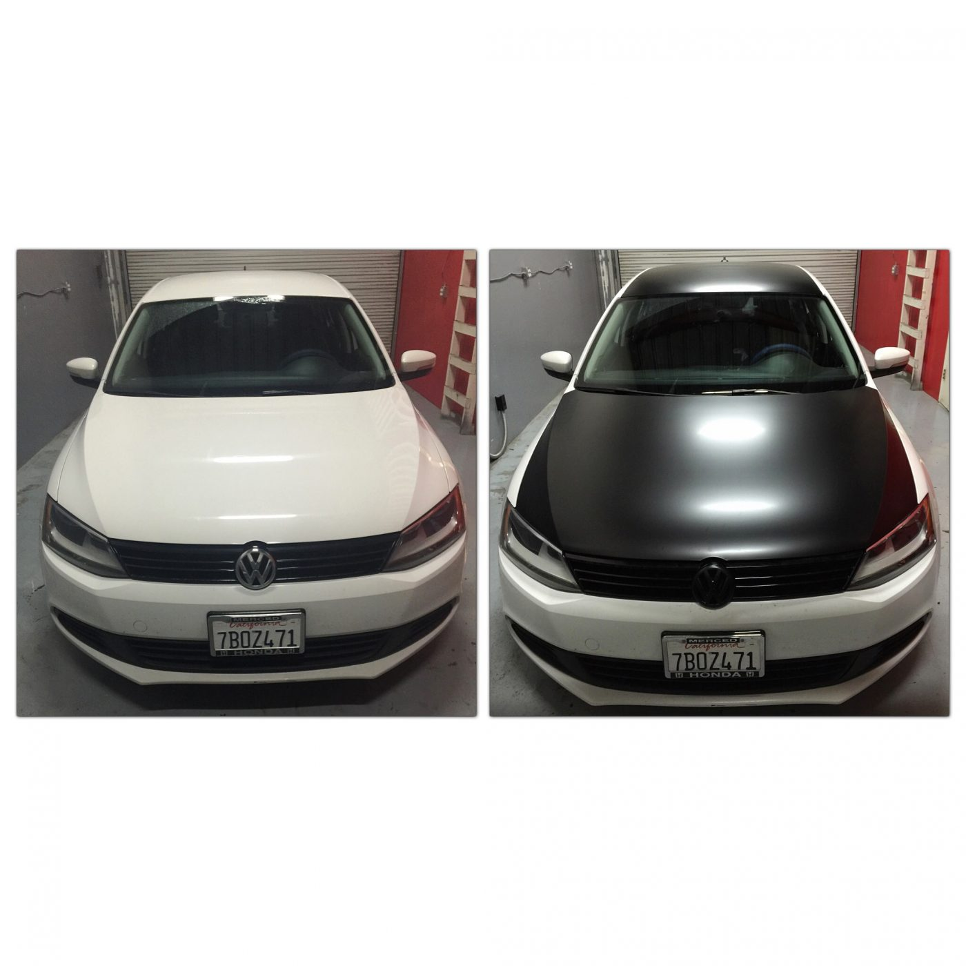 Color Change Car Wrap Before & After