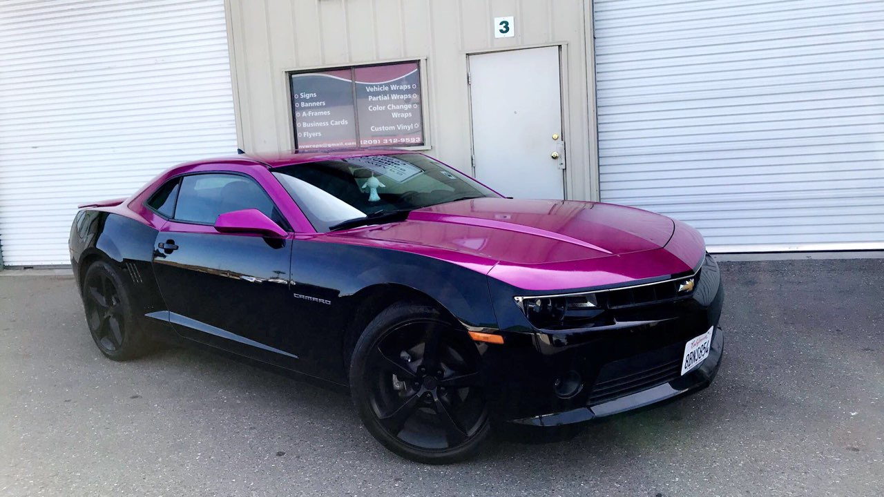 Beautiful two tone car wrap