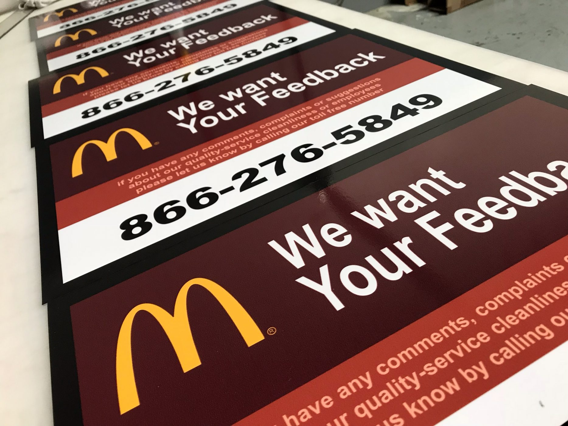 Signs by NV Wraps for McDonalds