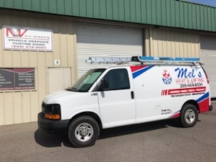 Van Wrap for Mel's Heat & Air Inc.