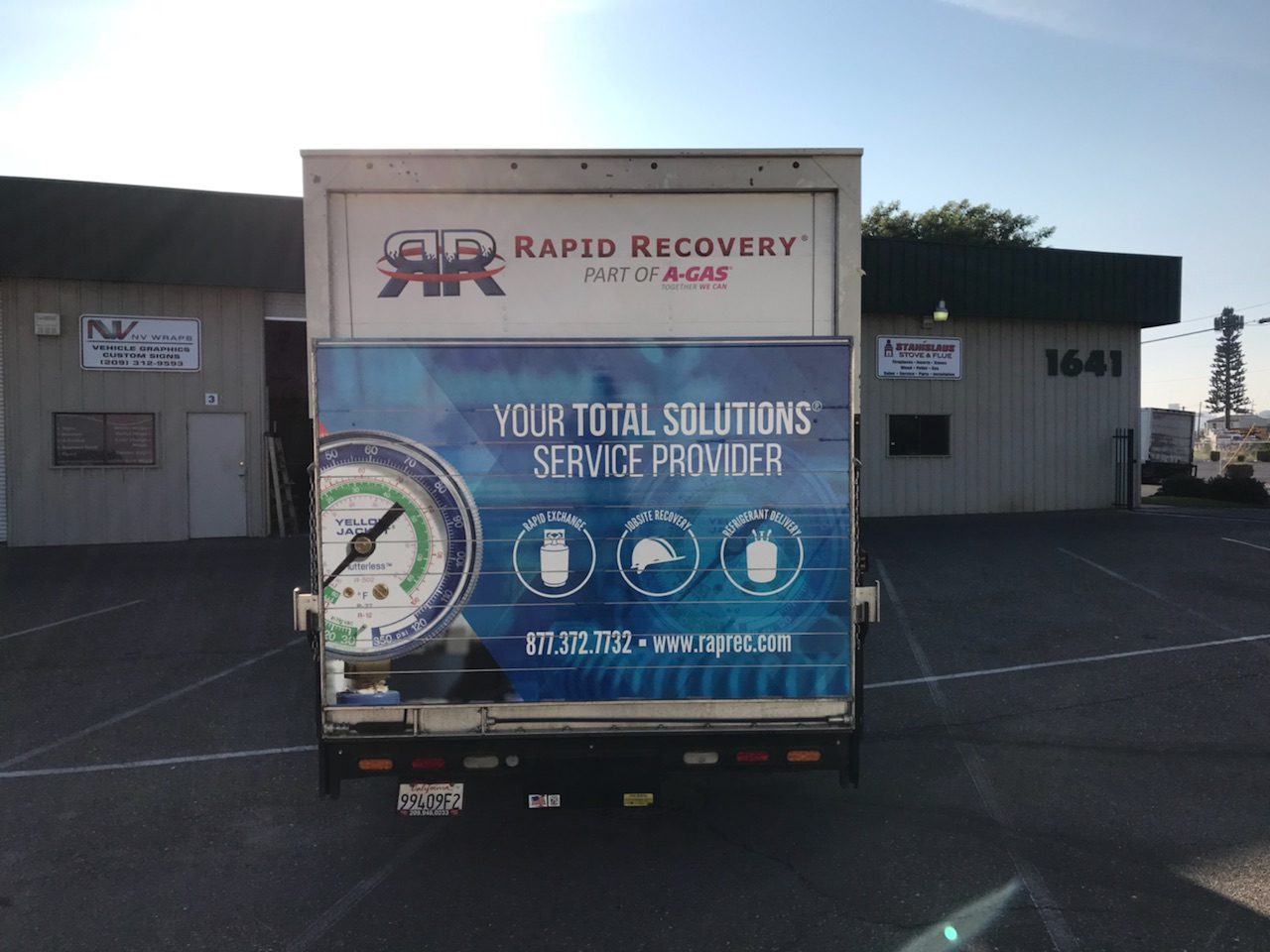 Truck Vehicle Wrap for Rapid Recovery