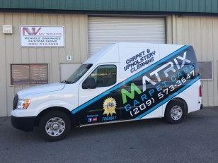 Vehicle Truck Wrap for Matrix Carpet Care